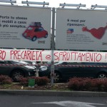 Azione di solidarietà all'Ikea di Carugate